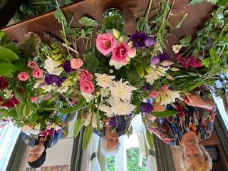 Ondernemers bloemschikken
